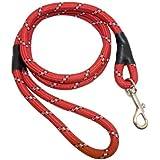 Laisse pour chien en nylon avec crochet émerillon en métal Différents coloris