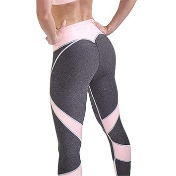 Ytdzsw Pantalones De Yoga Mujer Sexy Pink Leggings ...