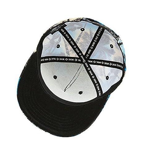 Llxln Hombre Mujer Gorra Gorras Planas Hip Hop Hat  Amazon.es  Deportes y aire  libre 13930b1e8b5