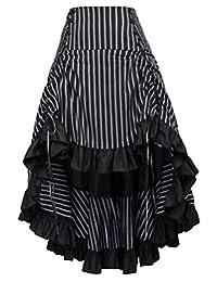 Women Vintage Gothic Victorian Bustle Skirt Steampunk Pirate Skirt BP345-2 XL