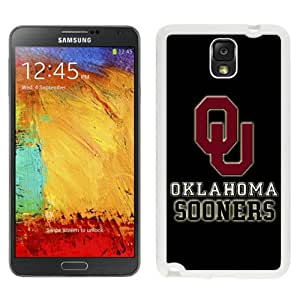 NEW Personalized Customized Galaxy Note 3 Cases with NCAA Big 12 Conference Big12 Football Oklahoma Sooners 3 Protective Cell Phone Hardshell Cover Case for Galaxy Note 3 III N900 N9005 White