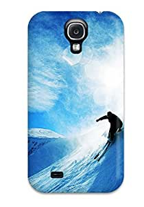 Galaxy Case - Tpu Case Protective For Galaxy S4- Skiing Over Snow