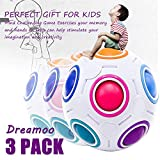 3Pack Puzzle Rainbow Ball sensory toys for Toddlers kids adults, Stress Relief Fidget Cube Challenge Match Colors Game 3D Magic Play Ball Brainteaser ADHD Autism Anxiety Educationl Birthday Party Gift