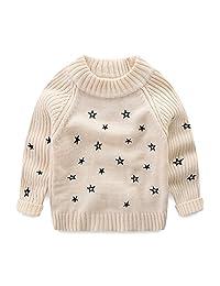LittleSpring Little Girls Sweater Winter Wool Star