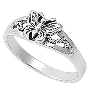 Sterling Silver Butterfly Ring Size 9