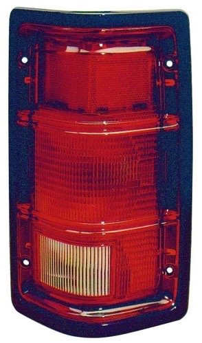 (Go-Parts ª OE Replacement for 1988-1996 Dodge Dakota Rear Tail Light Lamp Assembly/Lens/Cover - Left (Driver) Side - (Base Model + LE + S + Shelby + Sport) 55076439 CH2800111 for Dodge D)