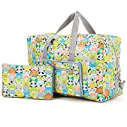 Arxus Large Foldable Duffel Tote Carry on Weekend Overnight Travel Bag Over Luggage with Shoulder Strap (Animal Print)