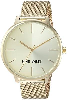 Nine West Women's NW/1981 Sunray Dial Mesh Bracelet Watch from Nine West