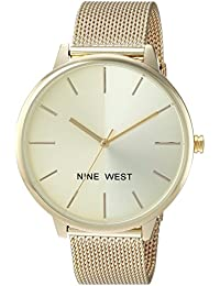 Womens NW/1980CHGB Gold-Tone Mesh Bracelet Watch