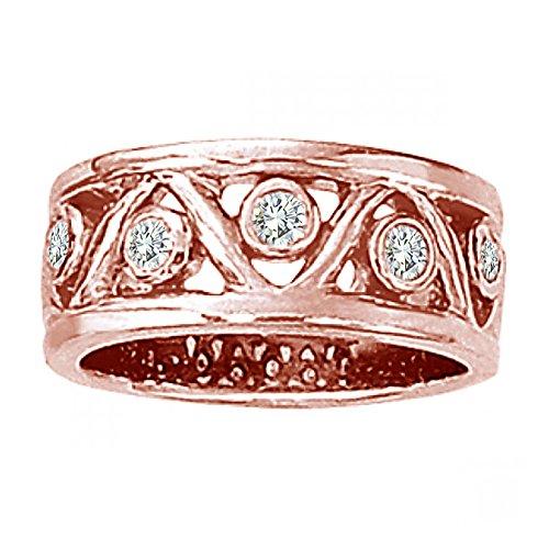 0.30 Carat G-H Diamond Fancy Tringle Design Promise Wedding Bridal Women Ring 14K Rose (0.30 Ct Marquise Diamond)