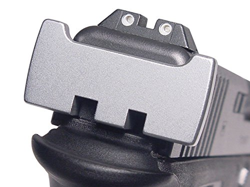 for Glock Rear Ambi Speed Slide Racker Back Plate MOS Optics Silver for Gen 1-5 Most Models - Plain