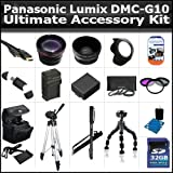 32GB Ultimate Accessory Kit For The Panasonic Lumix DMC-G10 12.1 MP Includes 32GB High Speed SD Memory card + Extended Replacement DMW-BLB13 (1500 mAH) Battery + Ac/Dc Rapid Travel Charger + Deluxe Carrying Case + 50 Inch Pro Tripod + Monopod + Much More