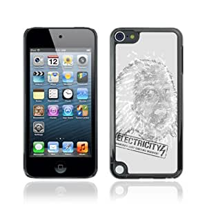 CQ Tech Phone Accessory: Carcasa Trasera Rigida Aluminio Para Apple iPod Touch 5 - Funny Electricity Illustration