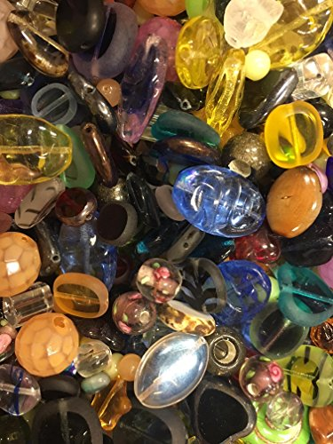 3 Pounds of Mix Lamp Work, Glass, Crystal Mix Beads, Encased Beads, Wedding Cakes, Crackle, Czech Pressed,, Crystal, Chinese Eye, BumpY Dots, Assorted, Variety Mix Size 6mm-24MM, Variety of Colors ()