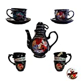 Disney Parks Alice in Wonderland Time For Tea Mad Tea Party Teapot Gift Set