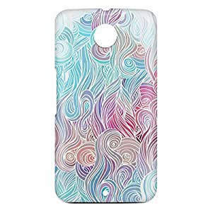 Loud Universe Motorola Nexus 6 3D Wrap Around Waves Print Cover - Multi Color