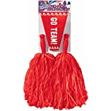 Cheerleader Pom/Pom & Megaphone - Red