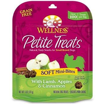 Wellness Petite Soft Mini-Bites Small Breed Dog Treats 6 oz. Lamb, Apples & Cinnamon (Cinnamon Dog Apple Treats)