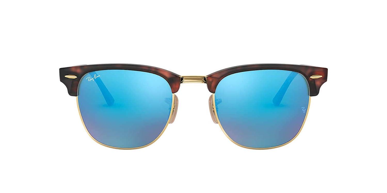 2bc317d7ce9956 Amazon.com: Ray-Ban 3016 Clubmaster Sunglasses, Black/Crystal Green  Polarized: Clothing