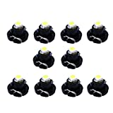 FLYPIG 10pcs white T4.2 Neo Wedge A/C Climate Cluster LED Light Bulb 5050-SMD 10mm for 2001-2011 Dodge RAM 1500 2500 3500