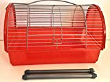 "LARGE ORANGE TRAVEL CAGE FOR SMALL ANIMALS/SMALL BIRDS(12"" X7"" X7"")"
