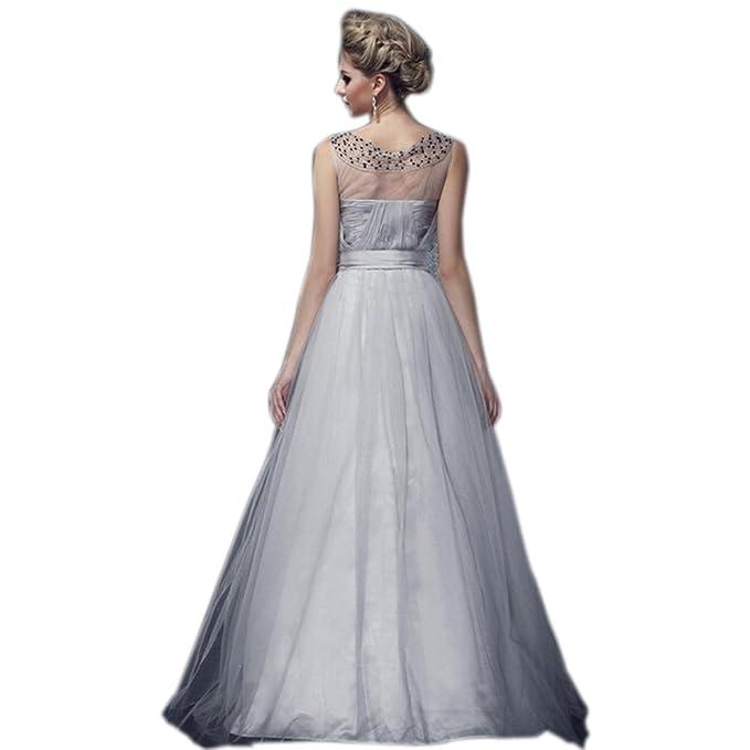 Tasso Damen Chiffon Brautkleid Elegante Abendkleider Party Cocktail ...
