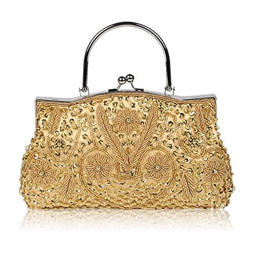 Bride Held Embroidered Bag Mother Golden Hand Red Bag Dinner JUZHIJIA Handmade Bag qTFYpw5pnx