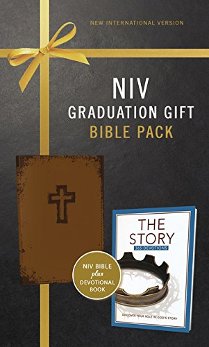 Graduation Gift Set - NIV, Graduation Gift, Bible Pack for Him, Brown, Red Letter Edition