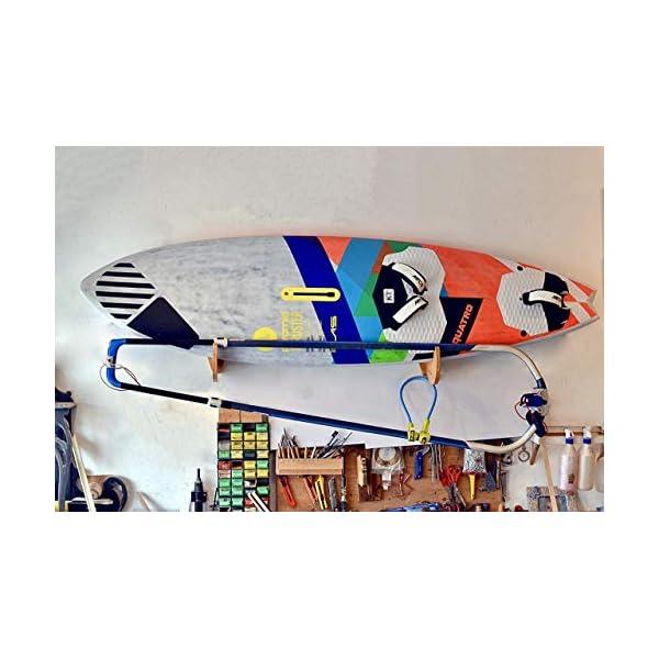 Premium Rack realizzati a mano per SUP e Windsurf - Modello Shark Tooth con porta pagaia 3 spesavip