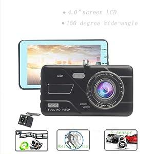 LoMe 4.0 inch Touch Screen Dash Cam 1080p Manual car Dashboard Camera hd dvr car Camera
