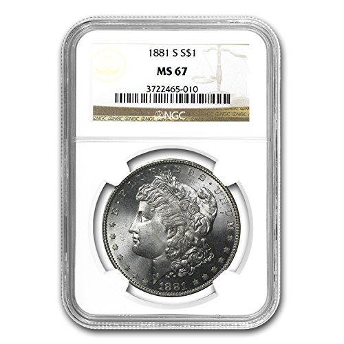1881 S Morgan Dollar MS-67 NGC $1 MS-67 NGC