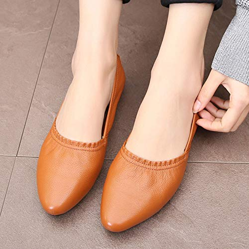 shoes shoes leather women work single comfortable flat FLYRCX bottom ladies shoes soft shoes vintage purple Fashion pregnant casual qn8aHRwf6