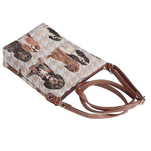 Sling Women New King Bag Signare Body Cavalier Cross Spaniel Tapestry Lightweight Charles Satchel I1EgEq