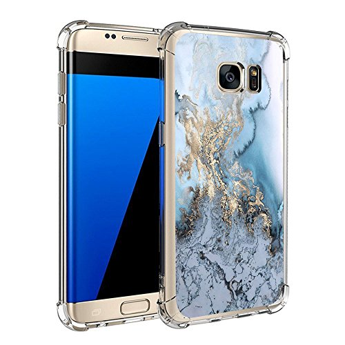 Price comparison product image Beryerbi Samsung galaxy s7/s7 edge Case Ultra Slim Marble Pattern Air Cushion Technology Protective Cover (8, galaxy s7 edge)
