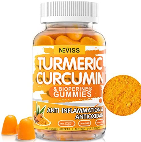 Turmeric Curcumin with Bioperine Supplement 13500mg – Natural Anti-inflammatory Antioxidant,Supports Joint Pain Relief – Vegan Turmeric Curcumin Gummies with Black Pepper, Non-GMO – 60 Sweets