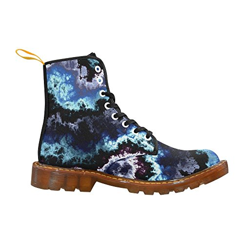 InterestPrint camo Martin Boots Fashion Shoes For Men Blue Shining Clouds Marbled Pattern k4OueHe04