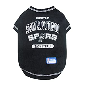 Pets First NBA SAN ANTONIO SPURS Dog T-Shirt, Medium