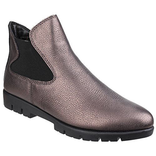 The Flexx Womens/Ladies Plain Elasticated Ankle Boots Metallic f5bjH