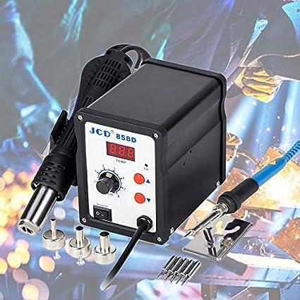 858D SMD Rework Station de soudage /à air chaud avec 3 Nozzles Fast