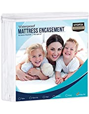 Utopia Bedding Zippered Mattress Encasement - Waterproof Mattress Protector