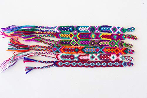 El azülejo Mexican Friendship Braided Bracelet for Kids, Girls and Women Birthday Gifts, Party Supply Favors, Wrist/Ankle Bracelet (6 Assorted Colours)