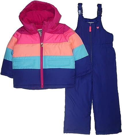 OshKosh B'Gosh Girls Printed Heavy Weight Winter Coat and Snow Pants