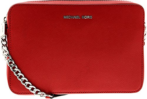 MICHAEL Michael Kors Women's Large East / West Cross Body Bag, Bright Red, One Size by MICHAEL Michael Kors