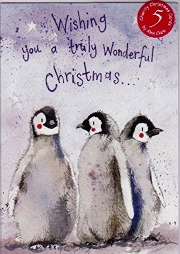 Alex Clark Charity Christmas Cards Penguins Pack Of 5 1 Free Alex Clark