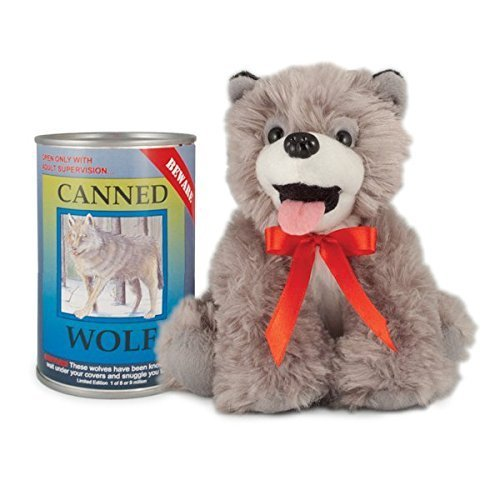 Canned Critters Stuffed Animal: Wolf 6