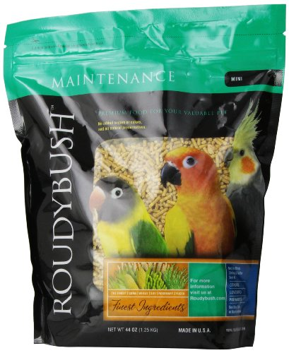 Cockatiel Pellets (RoudyBush Daily Maintenance Bird Food, Mini, 44-Ounce)