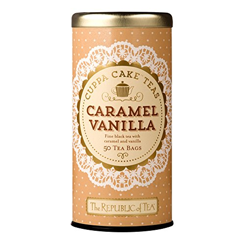 The Republic Of Tea Caramel Vanilla Cuppa Cake, 50 Tea Bags, Blended Fine Black Tea, Gluten-Free