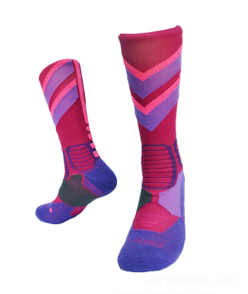 Elite Socks Kalily Cushioned Athletic Crew Socks for All Sports Risen Tech
