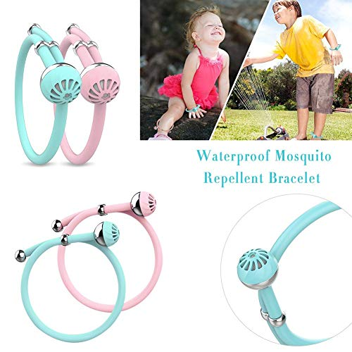 Cherry-Lee Smart Fashion Beautiful Baby Kids Pregnant 100 Deet Free Natural Oil Safe Waterproof Mosquito Travel Repellent Insect Mosquito Repellent Wristband Band Bracelets