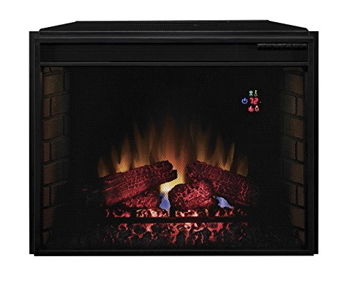 ClassicFlame 28EF023SRA Electric Fireplace with Mesh Screen (Metal Standard Fireplace Screen)